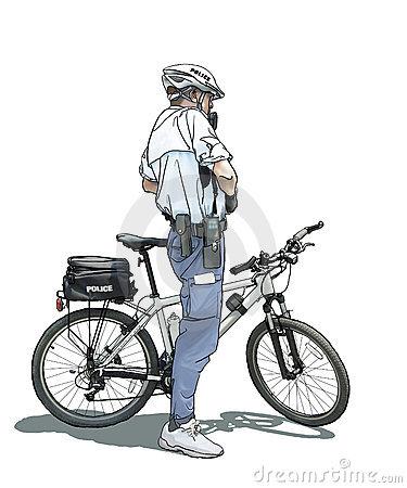Politieagent op de fiets